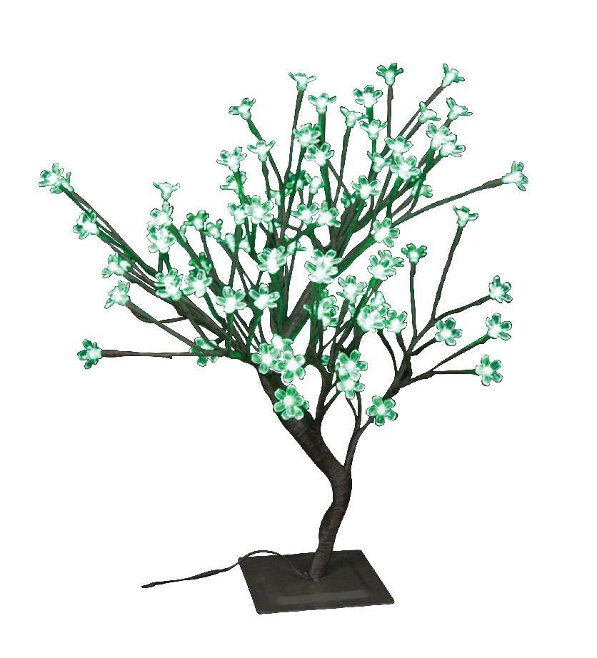 Lumières florales-  Bonsaï de table, 96 lumières  DELS vertes, pour intérieur\extérieur. 22'' de ...