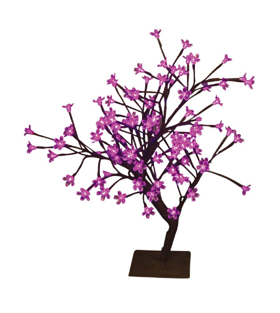 Floral Lights � Table Top Bonsai Tree- Indoor / Outdoor, 96 Pink LED Lights, 22 Inch  high, AC ad...