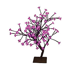Hi-Line Gift Floral Lights  Table Top Bonsai Tree- Indoor / Outdoor, 96 Pink LED Lights, 22 Inch  high, AC adaptor