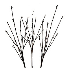 Floral Lights - Lighted Willow Branch (Set of 3 branches), with 96 lights, Indoor only, 40 -inch H