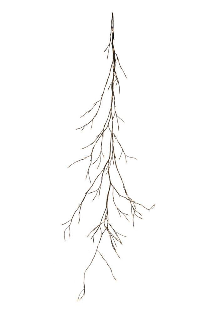 Lumières florales.  Guirlande de feuilles de vigne, 144 DELS,  intérieur, blanc chaud, 90'' de lo...