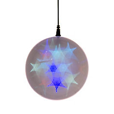 6 -inch  Hologram Starburst Hanging Ball Sphere - 24 Multi-Color LED Lights- Battery Operated (3 Functions)