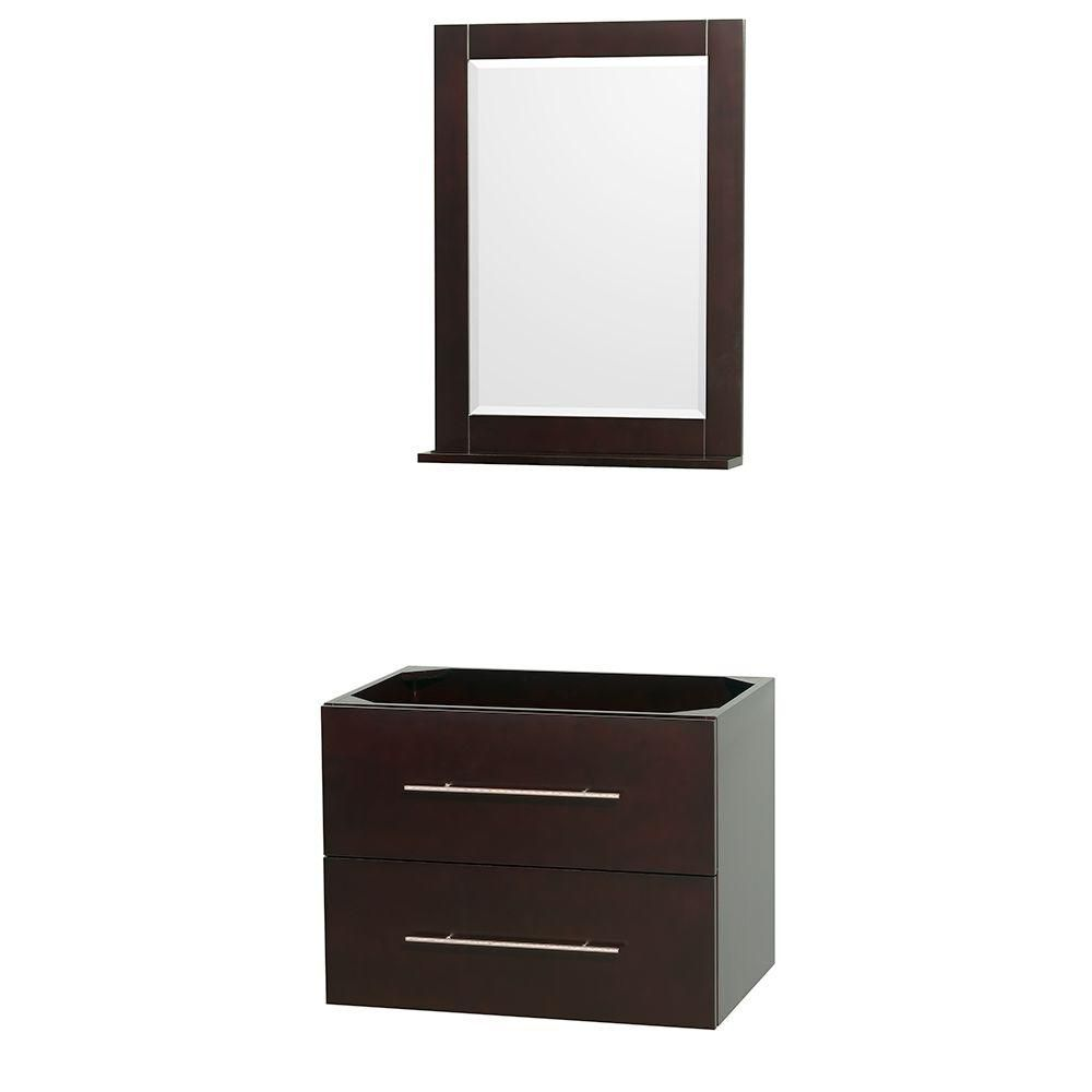 Centra 30-Inch  Vanity Cabinet with Mirror in Espresso