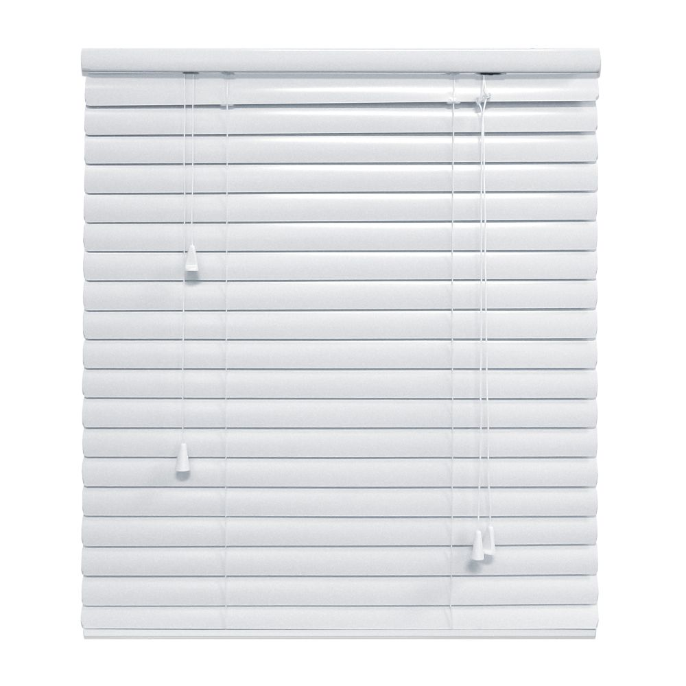 White 1 3/8 Inch.  Premium Aluminum Blind 66x48