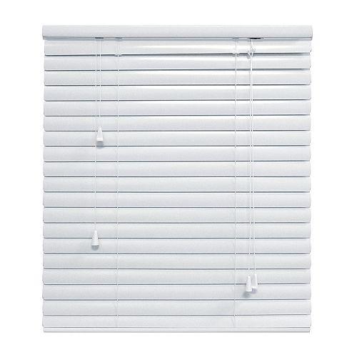 Hampton Bay White 1 3/8 Inch.  Premium Aluminum Blind 72x48