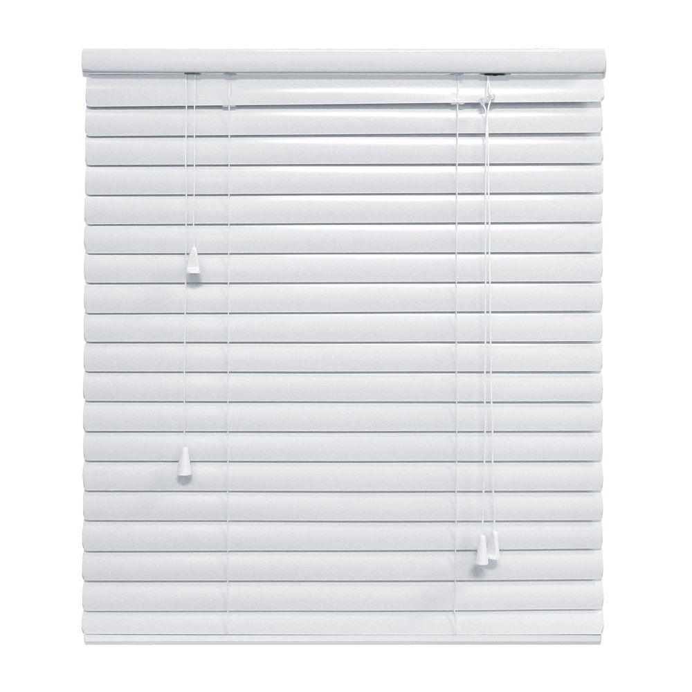 White 1 3/8 Inch.  Premium Aluminum Blind 72x72