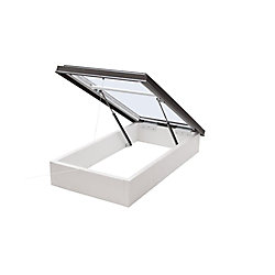 Columbia Skylights 2ft x 4ft Roof Access Hatch LoE3 Double Glazed Clear Glass Skylight with Brown Frame