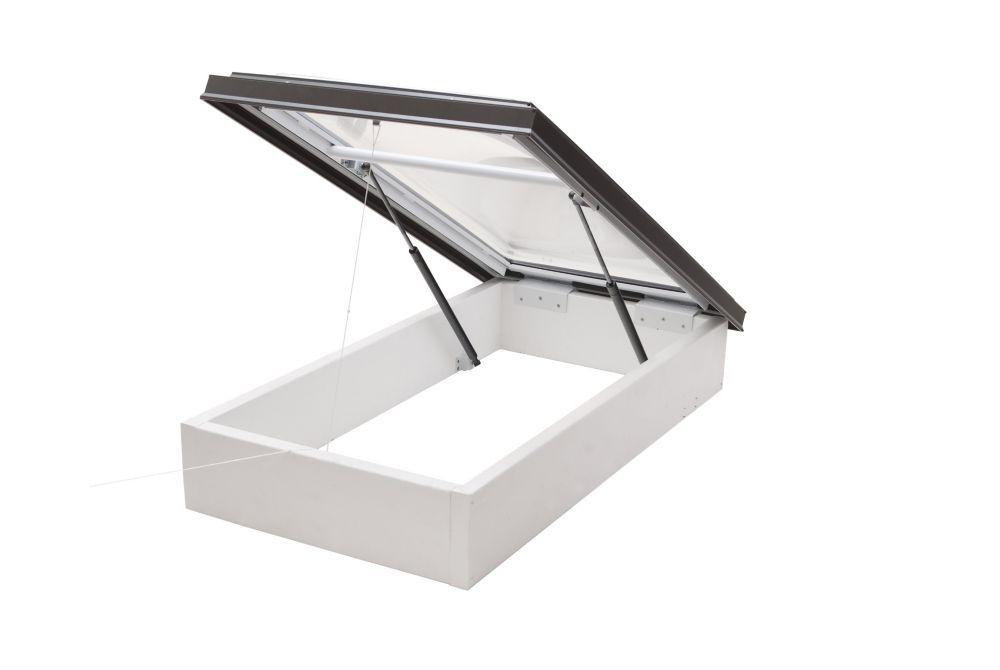 Puits de Lumière avec Accès au Toit, Dôme Acrylique Transparent, Double Vitrage, 3 pi x 3 pi