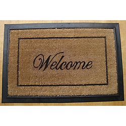 Home Decorators Collection Paillasson, 1 pi 11,75 po x 2 pi 11,75 po, rectangulaire, fibre de coco, Welcome