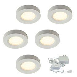 Illume 2.75-inch White Plastic LED Puck Kit (5-Pack)