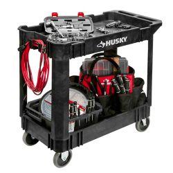 HUSKY 17-inch x 33-inch x 34-inch Rolling Utility Cart