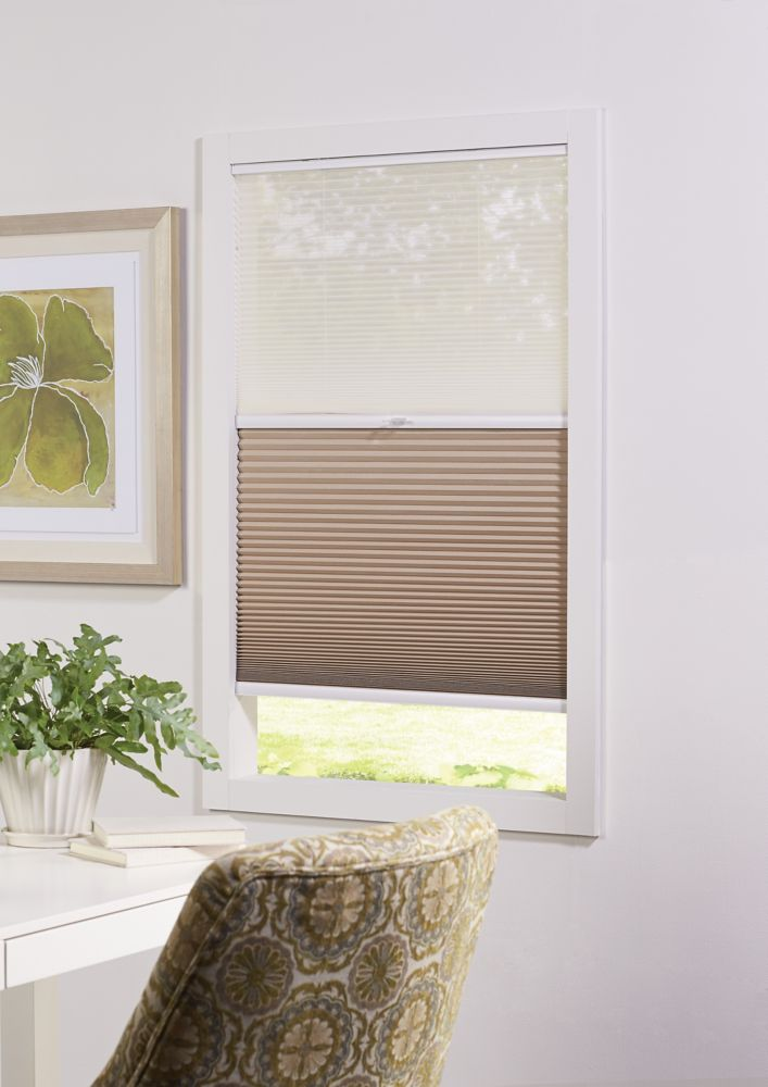 Cordless Day/Night Cellular Shade Sheer/Sahara 23-inch x 72-inch (Actual width 22.625-inch)
