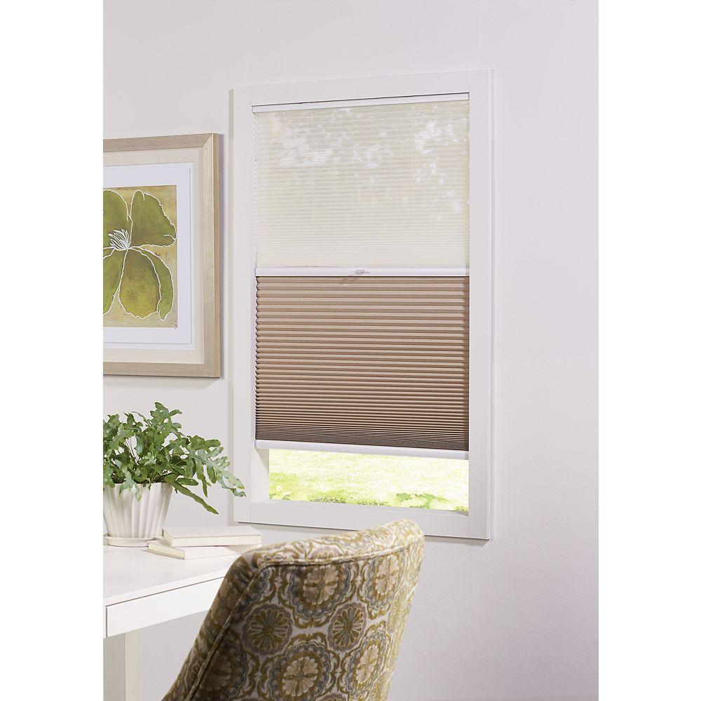 Home Decorators Collection Alvéolaire sans cordon pour le jour et la nuit voilage et Sahara 58,42 cm L x 1,82 m H