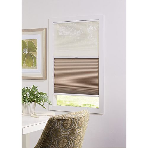 Home Decorators Collection Cordless Day/Night Cellular Shade Sheer/Sahara 23-inch x 72-inch (Actual width 22.625-inch)