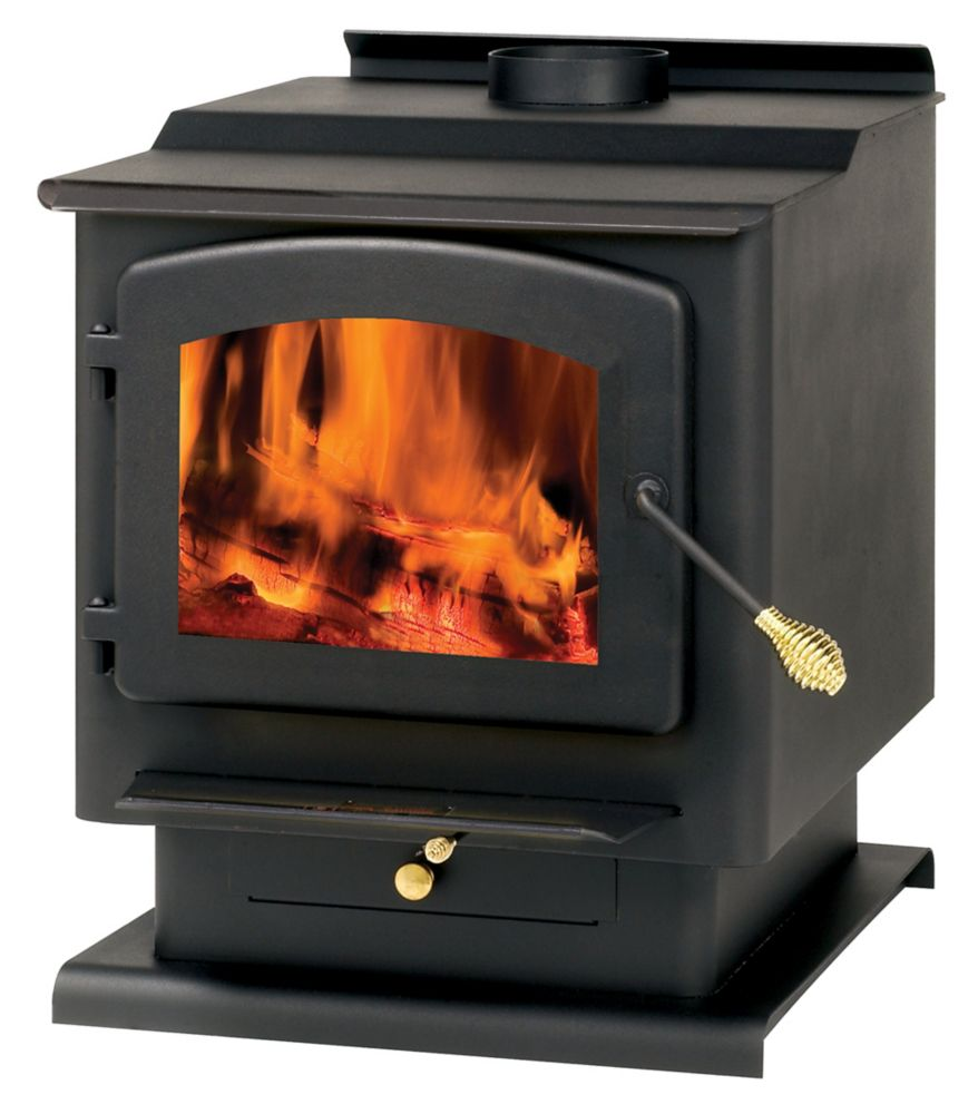 2,400 Square Foot Wood-Burning Stove