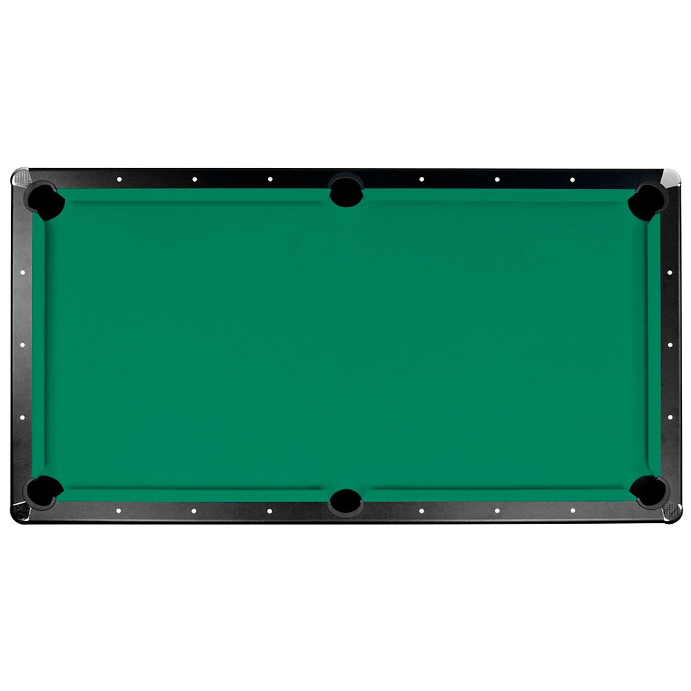 Tapis de feutre Championship Saturn II pour table de billard - 2 m 44 - vert