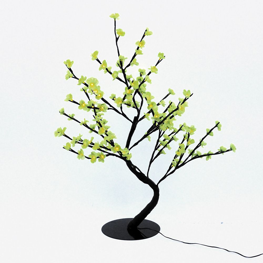 Floral Lights � Lighted Green Cherry Blossom Bonsai tree with 128 LED bulbs, Indoor only, 32 Inch...