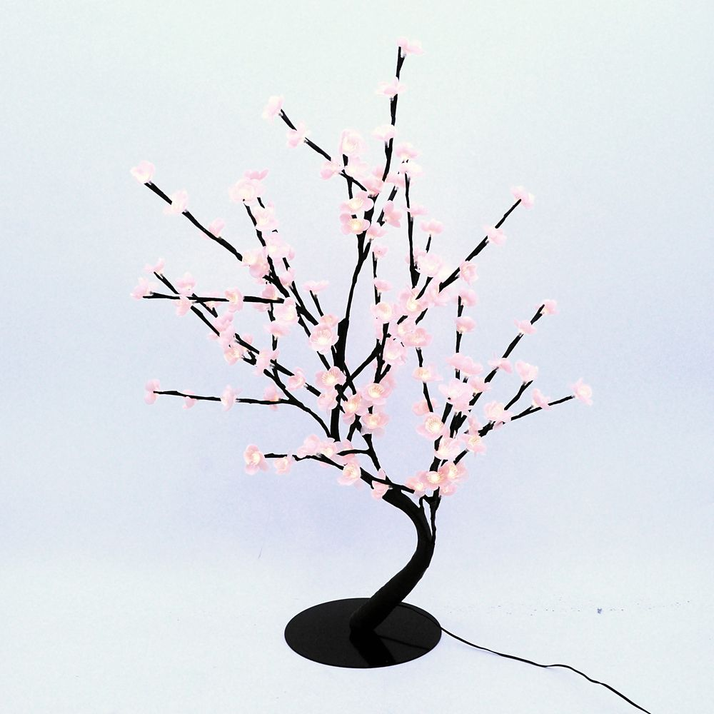 Floral Lights � Lighted Pink Cherry Blossom Bonsai tree with 128 LED bulbs, Indoor only, 32 Inch ...