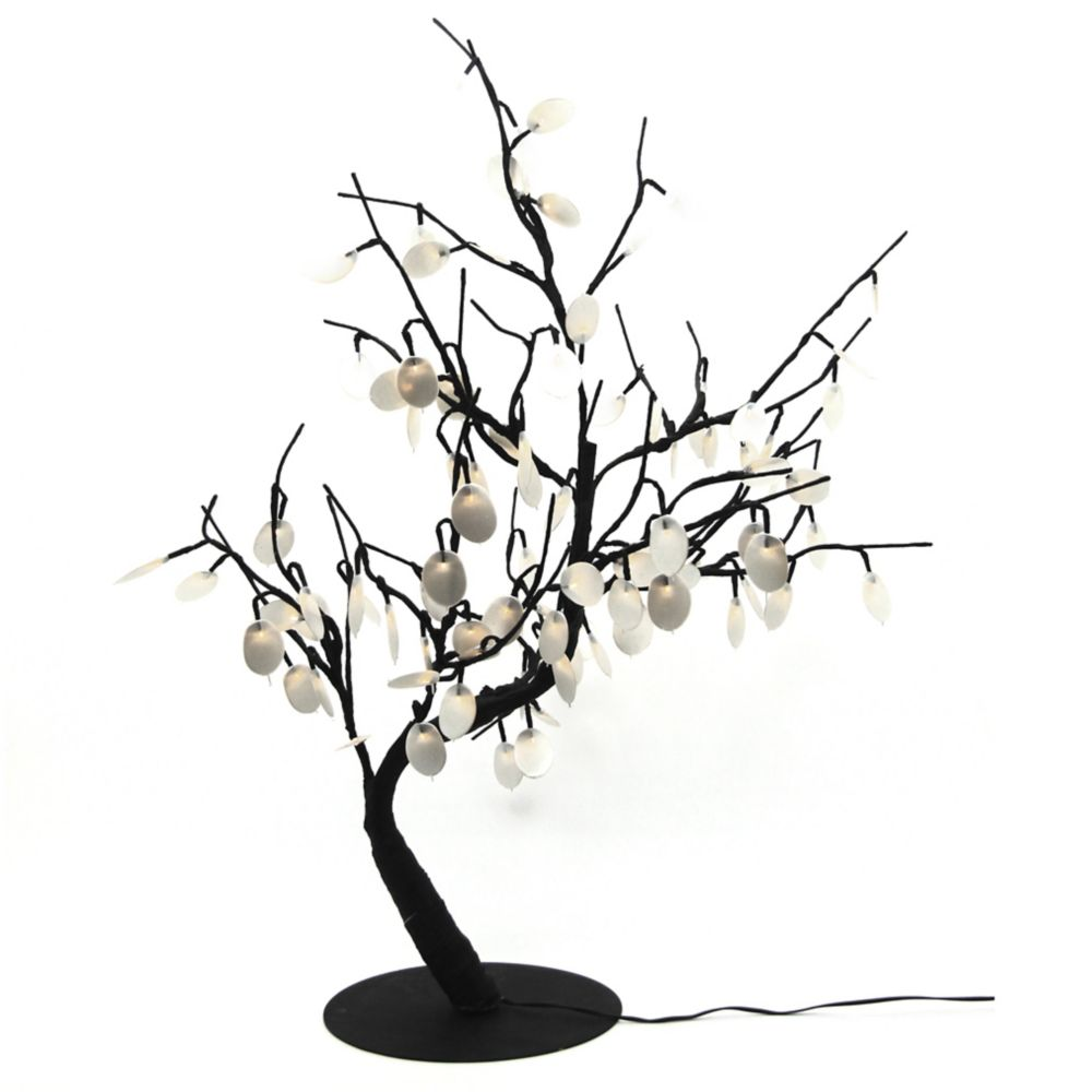 Floral Lights � Lighted Silver Dollar Bonsai tree with 96 LED bulbs, Indoor only, 32 Inch  high, ...