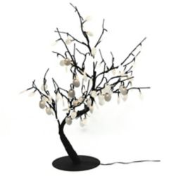 Hi-Line Gift Floral Lights  Lighted Silver Dollar Bonsai tree with 96 LED bulbs, Indoor only, 32 Inch  high, AC Adaptor