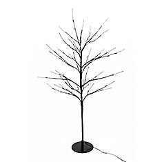 Floral Lights Lighted Willow Tree in brown wrap with 112 Rice Lights, Indoor only, 36 -inch  high, AC Adaptor