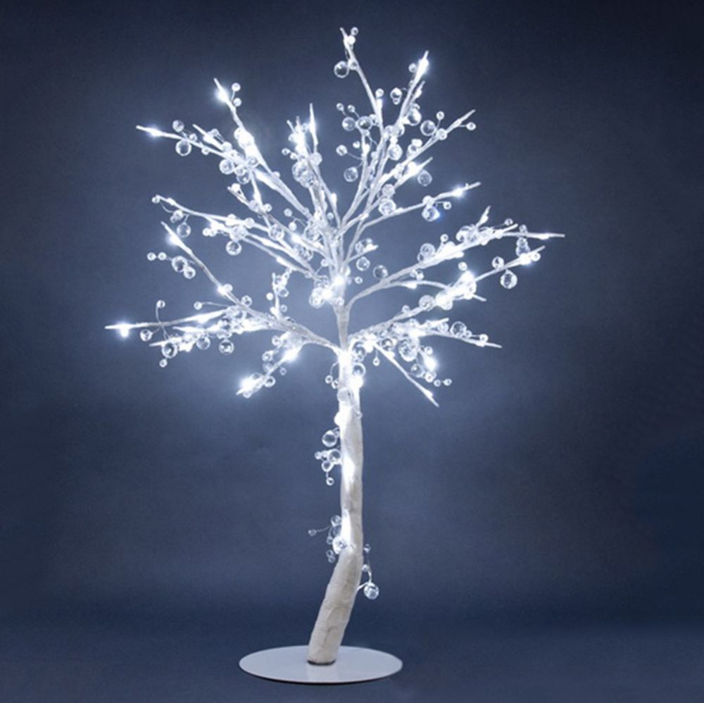 Floral Lights - Lighted Crystal Tree with 96 LED Lights, 384 Crystals, Indoor only, 34 Inch  H, A...