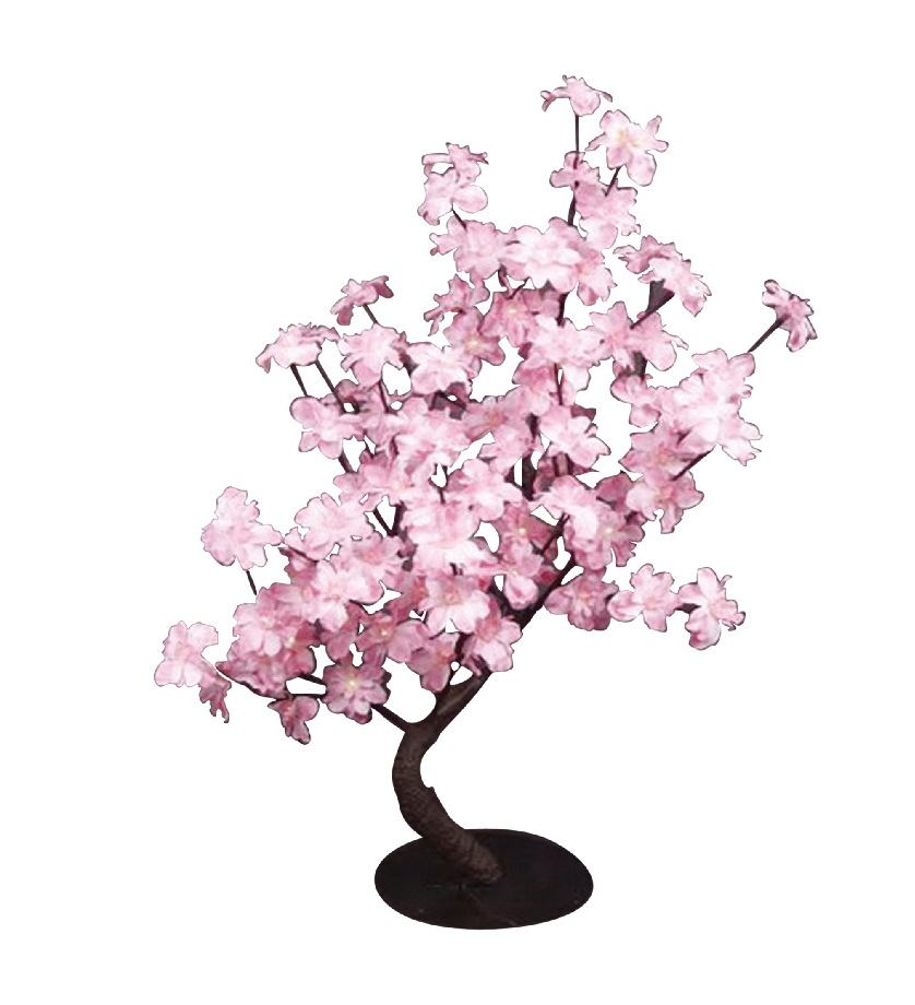 Lumières florales-  Bonsaï Pied-d'alouette rose, 96 lumières  DELS, pour intérieur seulement. 32'...
