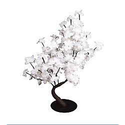 Hi-Line Gift Floral Lights - White Delphinium Bonsai Tree, 96 LED lights, Indoor only, 32 Inch  high, AC Adaptor
