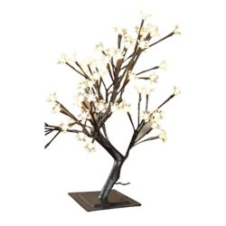 Hi-Line Gift Floral Lights 22-inch 96-Light Warm White LED-Lit Indoor/Outdoor Table Top Bonsai Tree