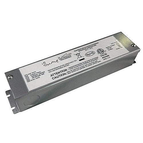 Transformateur DEL 12CC à branchement direct graduable de 12W