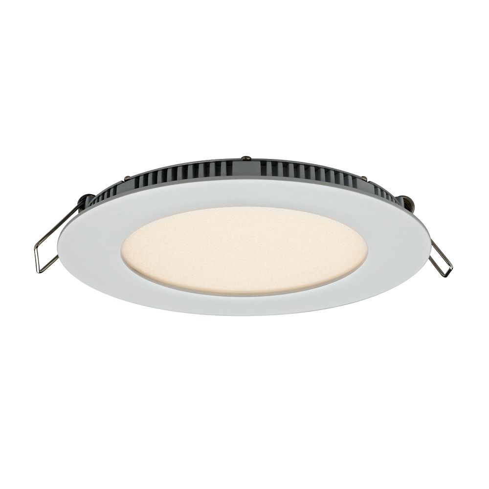 Recessed lighting the home depot canada round led edgelit panel light in white mozeypictures Images