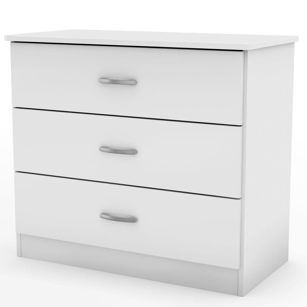 South Shore Libra Collection 3 Drawer Chest Pure White The Home