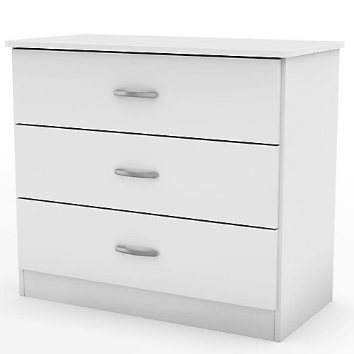 Libra  Collection 3-Drawer Chest Pure White