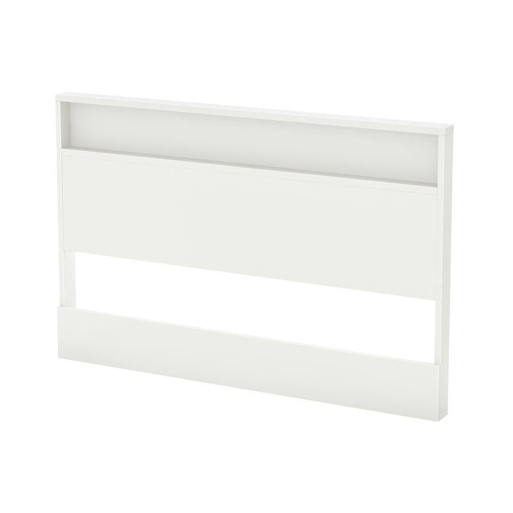 Tête de lit double/queen (54/60''), Blanc solide, collection Trinity