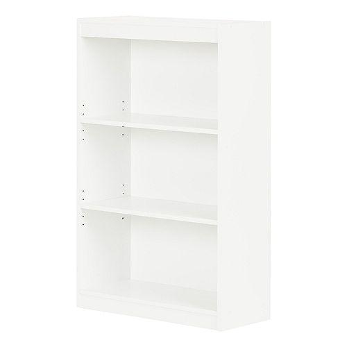 Axess 3-Shelf Bookcase, Pure White