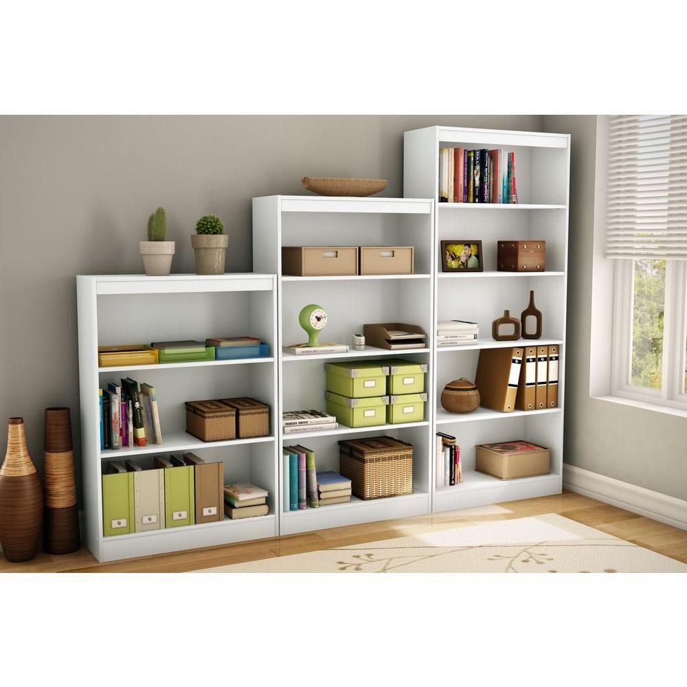 south shore tag re 4 tablettes freeport blanc solide home depot canada. Black Bedroom Furniture Sets. Home Design Ideas