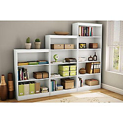 Axess 4-Shelf Bookcase, Pure White
