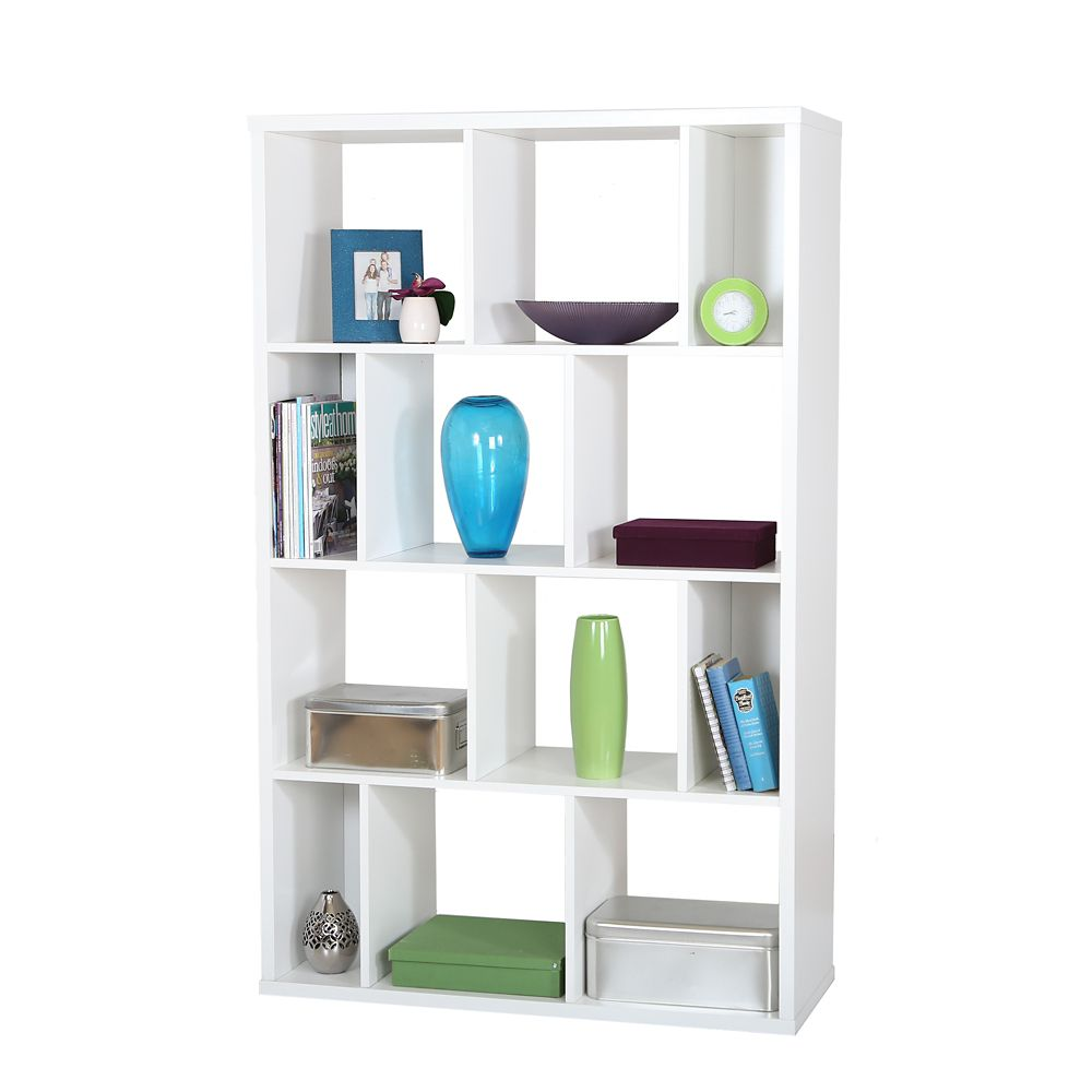 Reveal Shelving Unit with 12 Compartments, Pure White