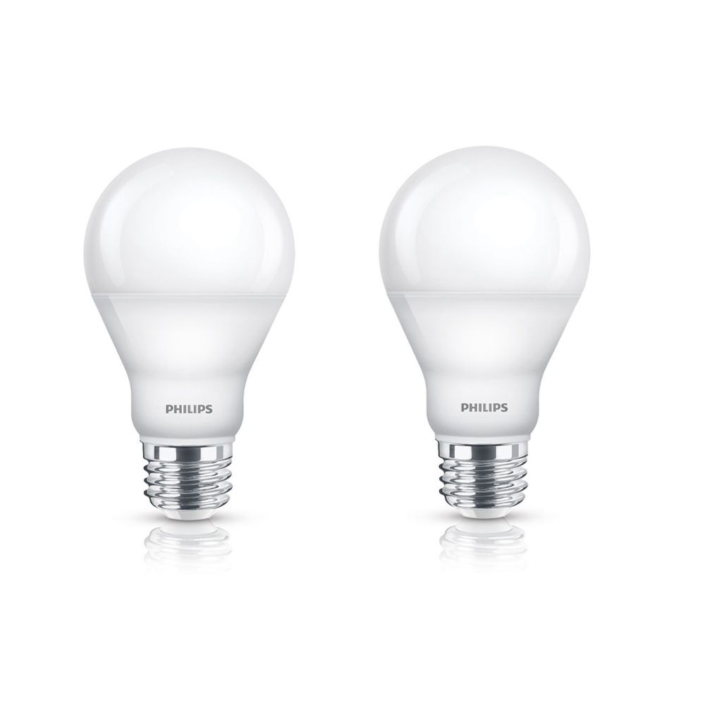 LED 9.5W = 60W A-Line (A19) Warm Glow (2700K- 2200K) - 2 Pack