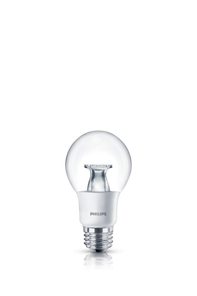 LED 40W A19 Clear Soft White WarmGlow (2700K - 2200K)