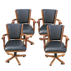Hathaway Kingston Oak Poker Table Arm Chair  - (Set of 4)