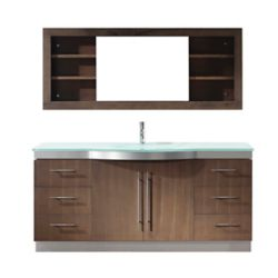 Art Bathe Dinara 72-inch W 4-Drawer 2-Door Vanity in Grey With Acrylic Top, Double Basins