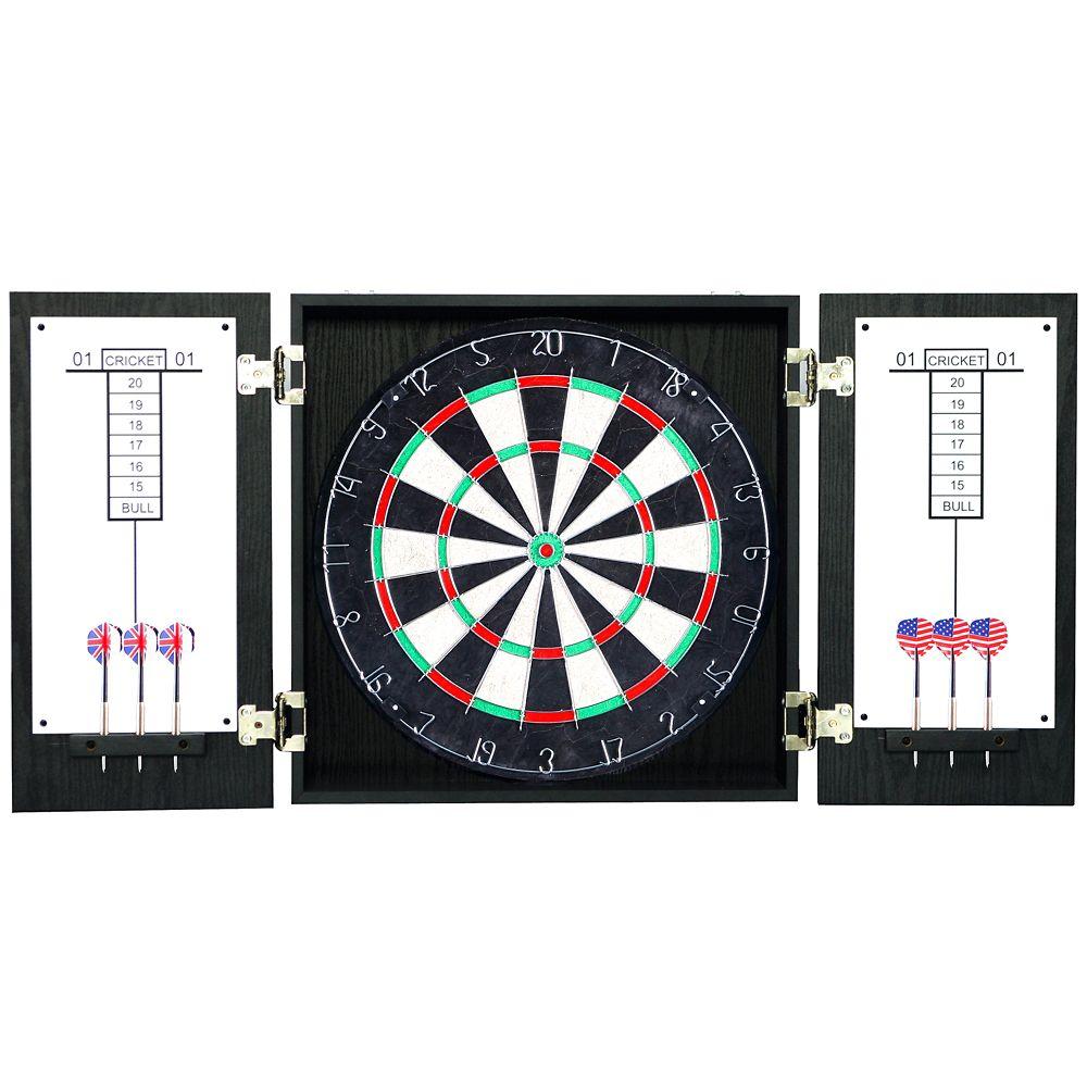 Winchester Dartboard & Cabinet Set - Black