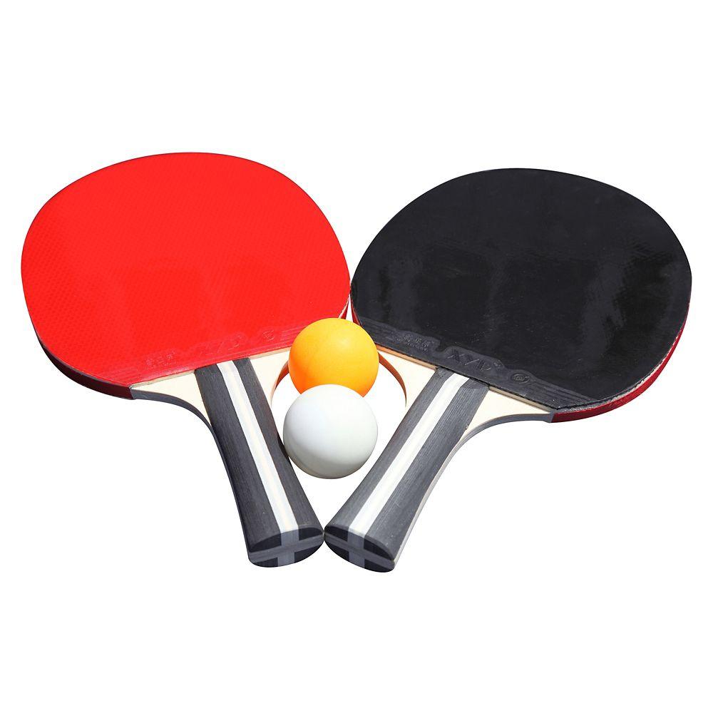 Ensemble Single Star Control Spin de tennis de table - deux raquettes ettrois balles.
