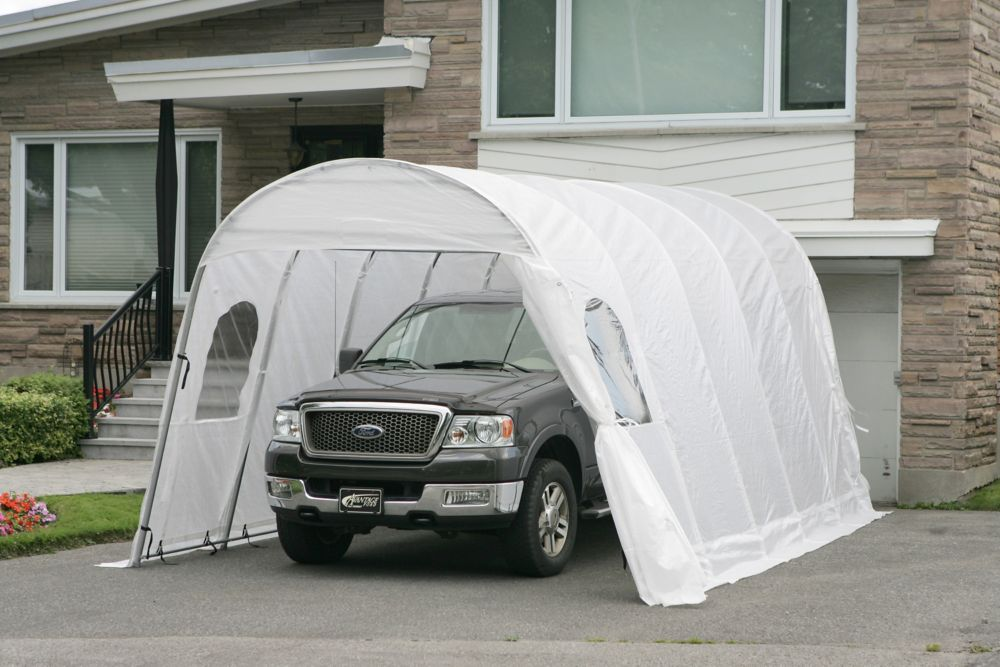 Car Shelter Jaguar 12 Feet x20 Feet White Roof with Straps SJ12X20 WHI Canada Discount