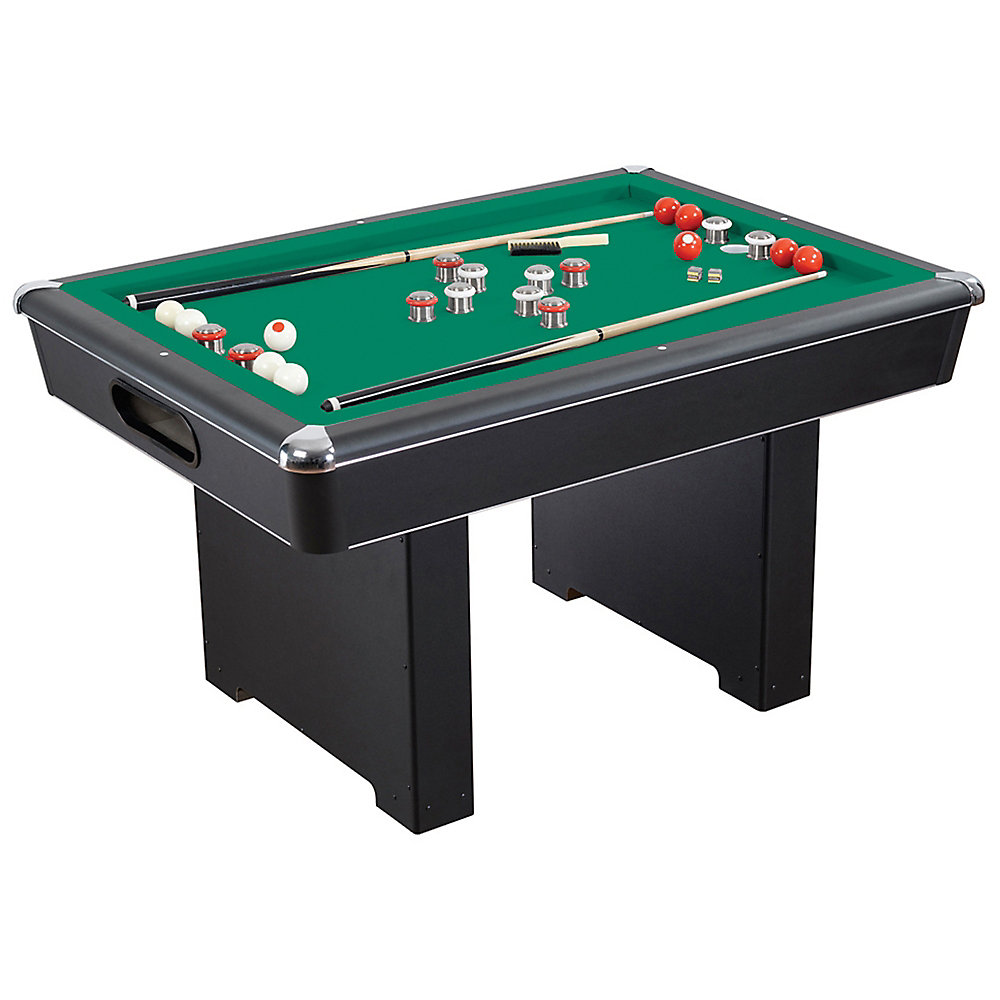 Strange Renegade 54 In Slate Bumper Pool Table For Family Game Rooms With Green Felt 48 In Cues Balls Brush And Chalk Home Interior And Landscaping Sapresignezvosmurscom