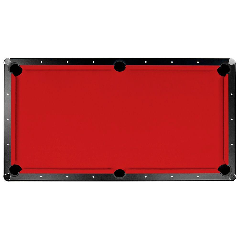 Tapis de feutre Championship Saturn II pour table de billard - 2 m 13 - rouge