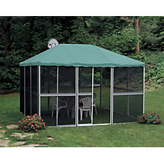 11 ft. 4-inch x 11 ft. 4-inch Square Gazebo in White/Green