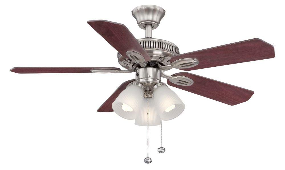 Hampton Bay Glendale 42 Inch Brushed Nickel Ceiling Fan