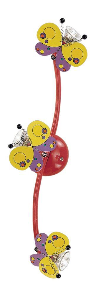 Harry Butterfly Track Light 3l, Multi-Colored Finish